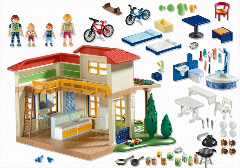 Playmobil set 4857 summer house klickypedia - Playmobil 3230 casa de vacaciones ...