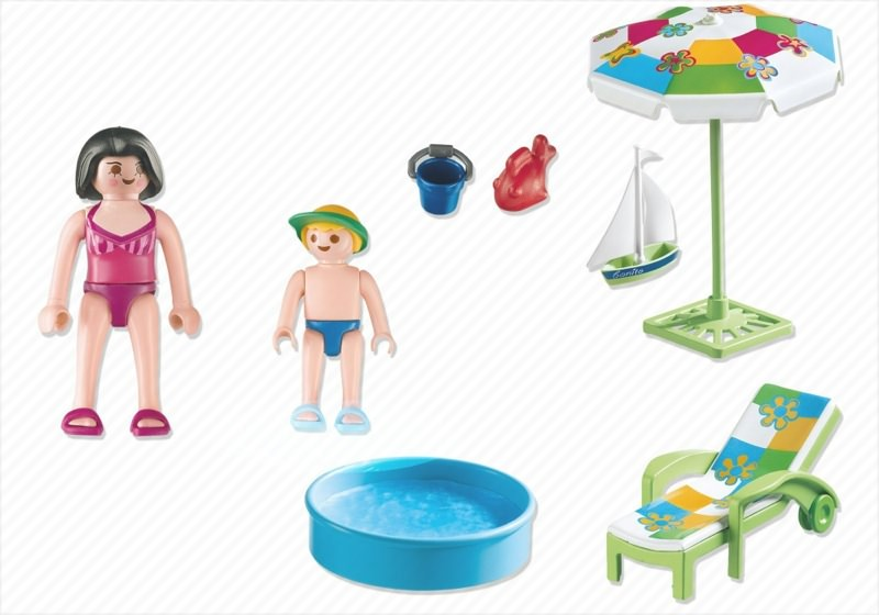 ... Playmobil 4864 - Paddling Pool - Back