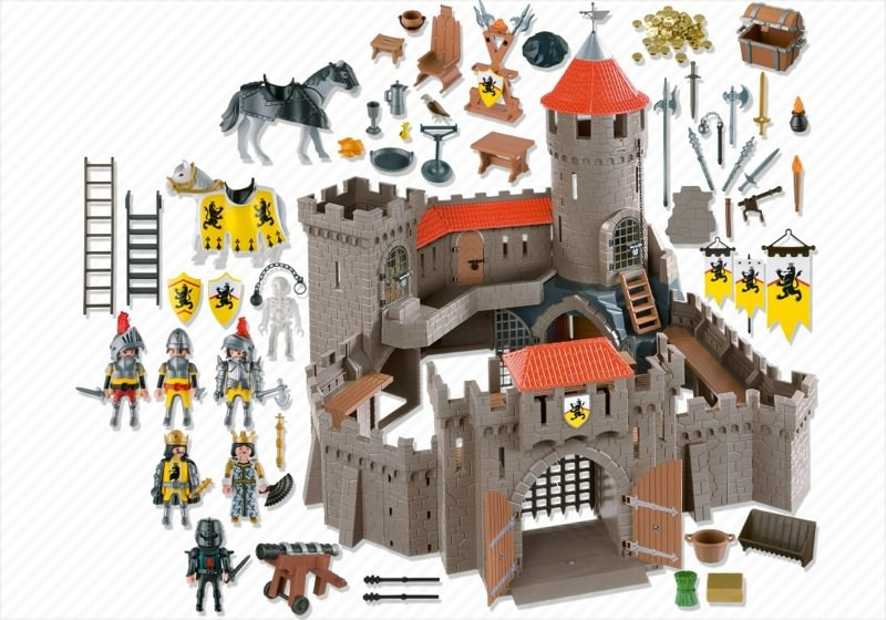 Playmobil 4865 - Lion Knights' Castle - Back