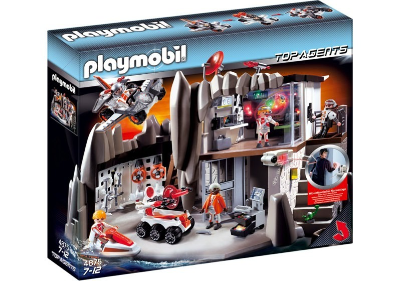 Playmobil 4875 - Secret Agent Headquarters with Alarm System - Box