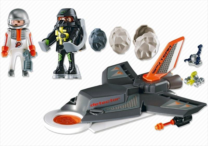 Playmobil 4877 - Secret Agent Detection Jet - Back