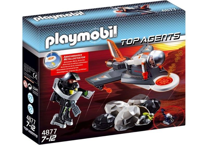 Playmobil 4877 - Jet de détection des Agents Secrets - Boîte