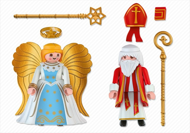 Playmobil 4887 - Duo Pack Saint Nicholas and Angel - Back