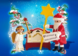 Playmobil - 4889 - Little Angel and Santa Claus with Organ