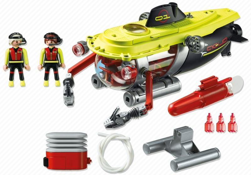 Playmobil 4909 - Deep Sea Submarine with underwater motor - Back