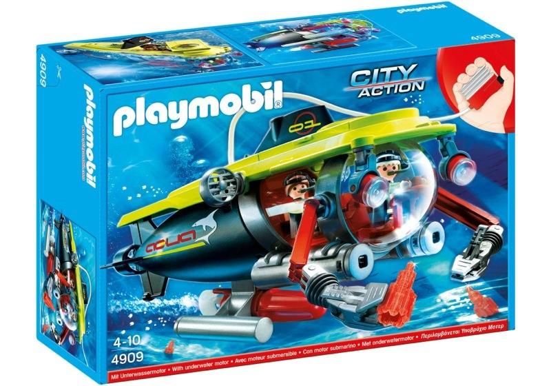 Playmobil 4909 - Deep Sea Submarine with underwater motor - Box