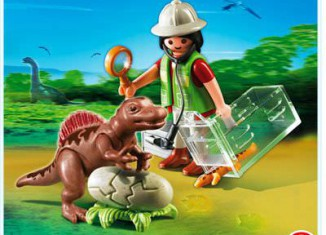 Playmobil - 4925 - Scientist with Baby Dinosaur