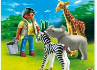 Playmobil - 4931 - Green Egg Caretaker with Baby Animals