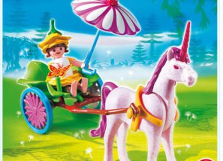 Playmobil - 4934 - Pink Egg Fairy with Unicorn Cart