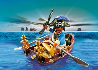 Playmobil - 4942 - pirate in rowboat egg