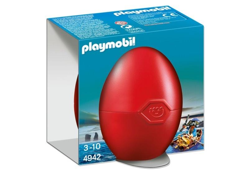Playmobil 4942 - pirate in rowboat egg - Box