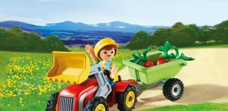 Playmobil - 4943 - Boy with children's tractor