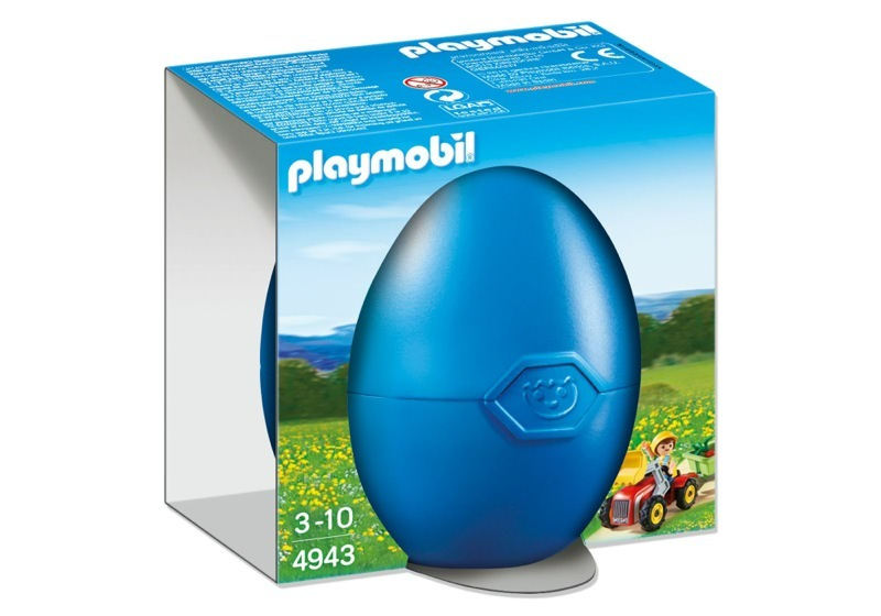 Playmobil 4943 - Boy with children's tractor - Box