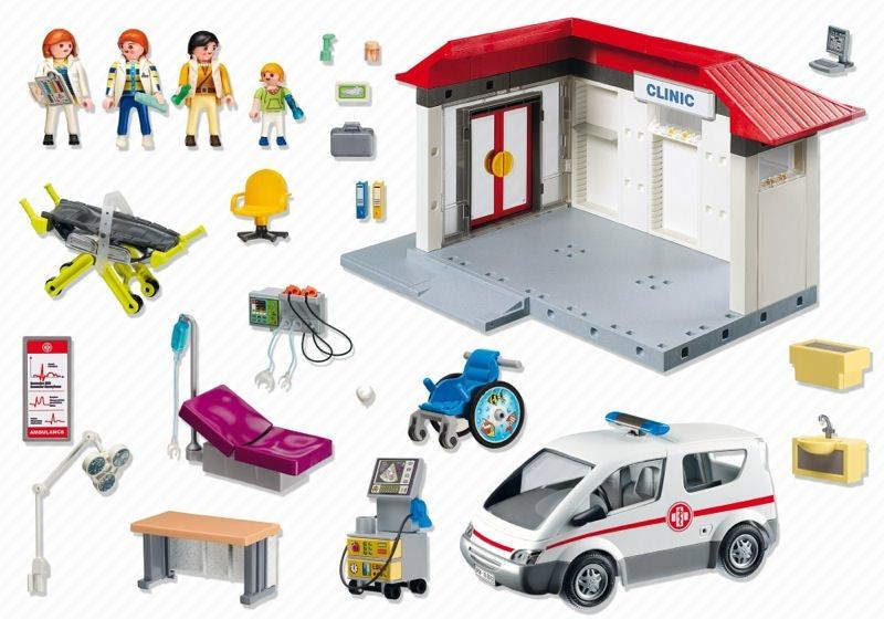 Playmobil 5012 - Medical Clinic - Back