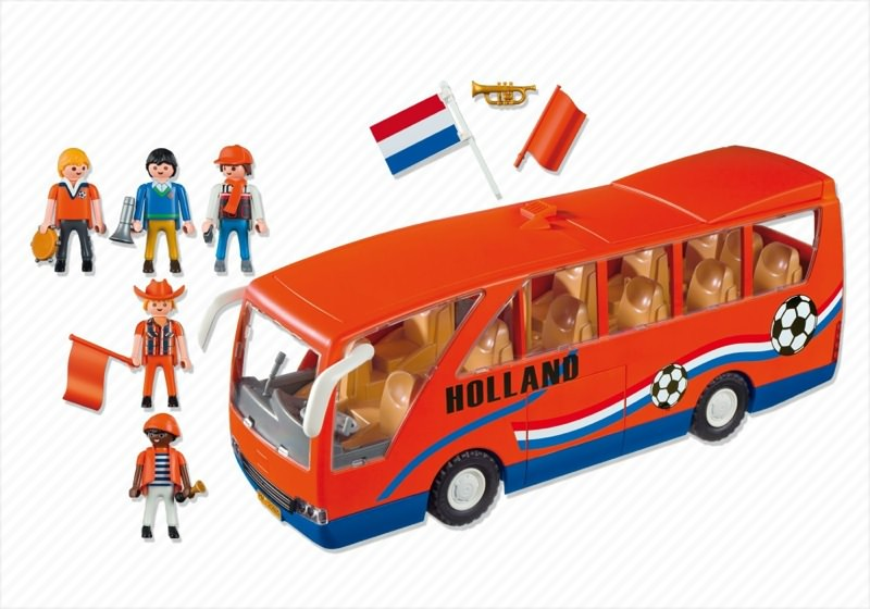 Playmobil 5025-net - Holland Supporters Bus - Back
