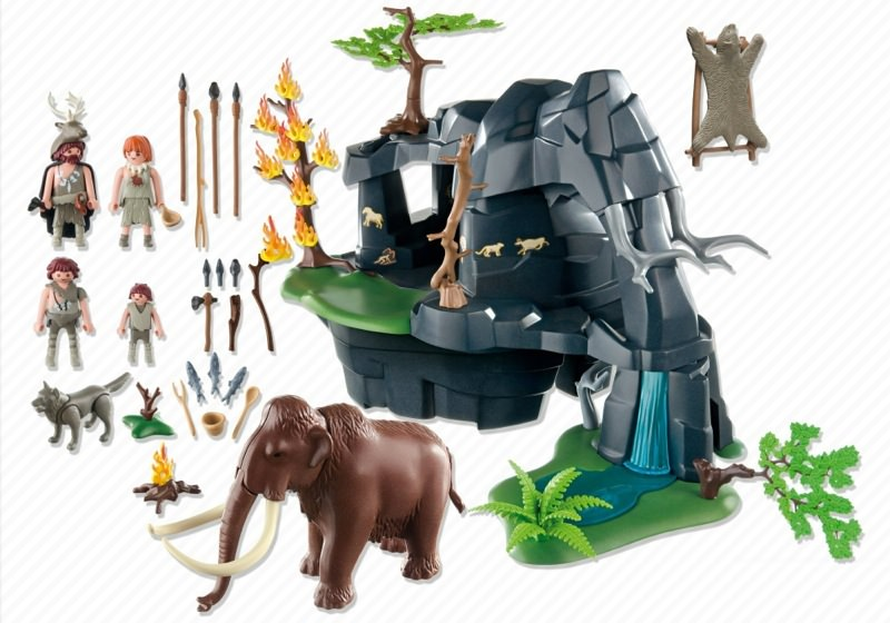 Playmobil 5100 - Stone Age Cave with Mammoth - Back