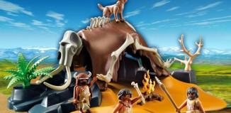 Playmobil - 5101 - Mammoth Skeleton Tent with Cavemen
