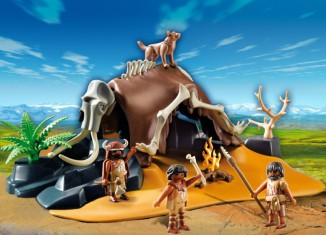 Playmobil - 5101 - Mammoth Skeleton Tent with Cavemen