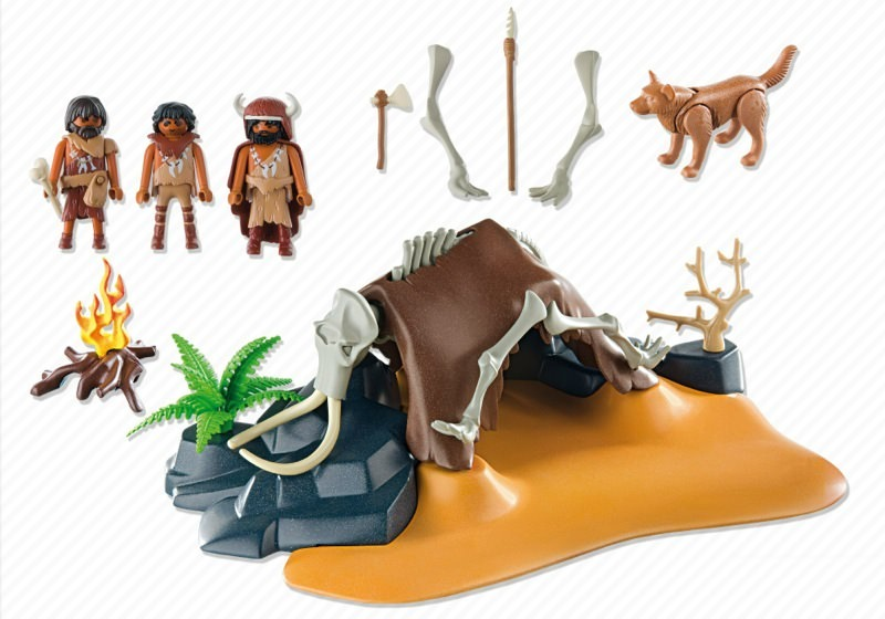 Playmobil 5101 - Mammoth Skeleton Tent with Cavemen - Back