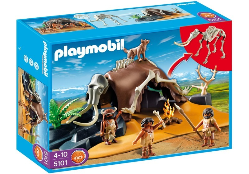 Playmobil 5101 - Mammoth Skeleton Tent with Cavemen - Box