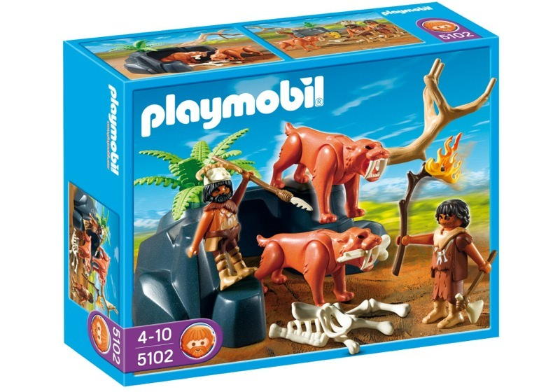 Playmobil 5102 - Saber-Toothed Cat with Cavemen - Box