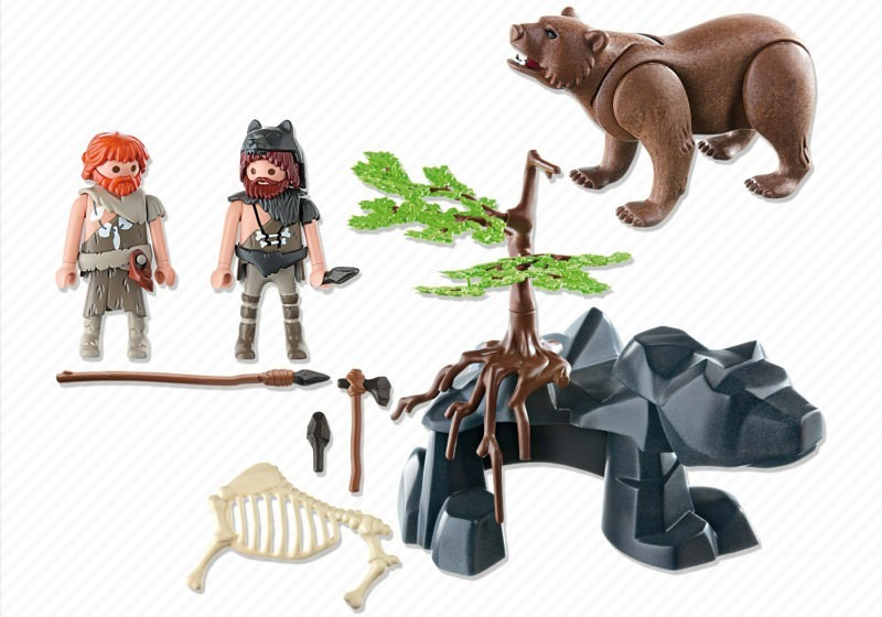Playmobil 5103 - Bear with Cavemen - Back
