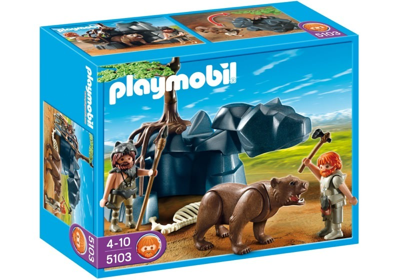 Playmobil 5103 - Bear with Cavemen - Box