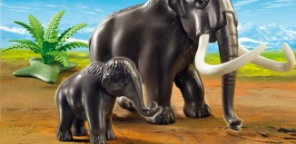 Playmobil - 5105 - Woolly Mammoth with Baby
