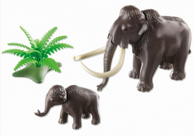 Playmobil 5105 - Woolly Mammoth with Baby - Back