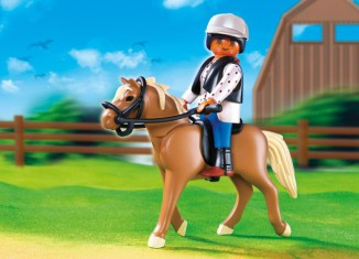Playmobil - 5109 - Haflinger Horse with Rider and Stable