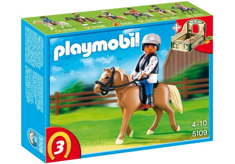 Playmobil 5109 - Haflinger Horse with Rider and Stable - Box