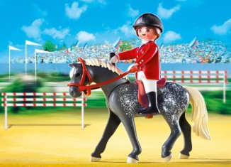 Playmobil - 5110 - Trakehner Horse with Equestrienne and Stable