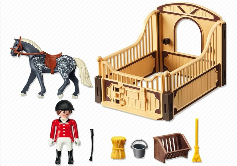 Playmobil 5110 - Trakehner Horse with Equestrienne and Stable - Back