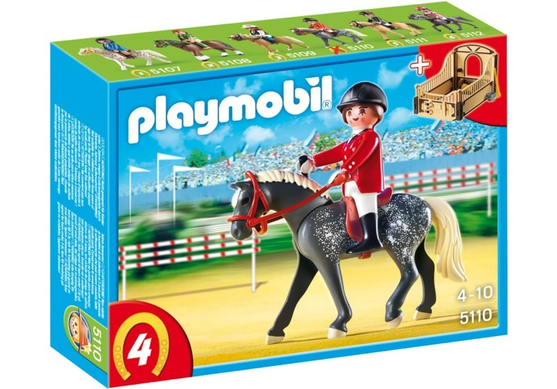 Playmobil 5110 - Trakehner Horse with Equestrienne and Stable - Box