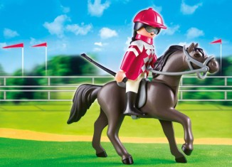Playmobil - 5112 - Arabian Horse with Jockey and Stable