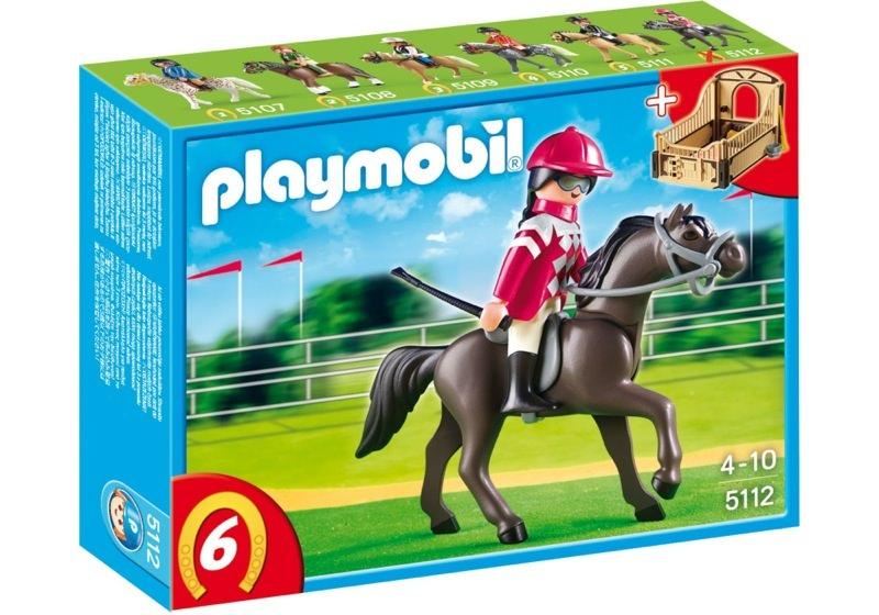 Playmobil 5112 - Arabian Horse with Jockey and Stable - Box