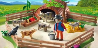 Playmobil - 5122 - Spotted Pigs and Pigpen