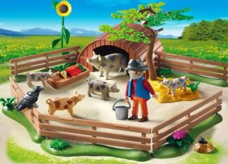 Playmobil - 5122 - Enclos et éleveur de cochons