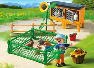 Playmobil - 5123 - Rabbit Hutch and Pen