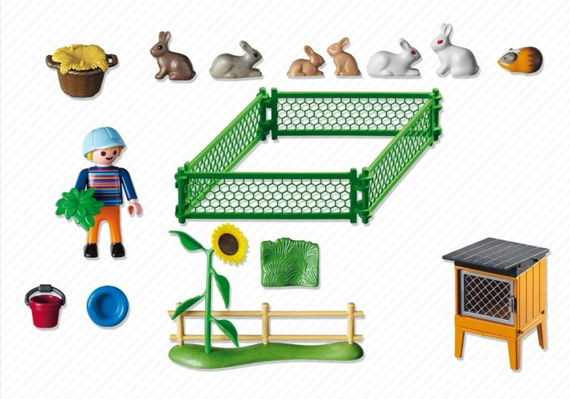 Playmobil 5123 - Rabbit Hutch and Pen - Back