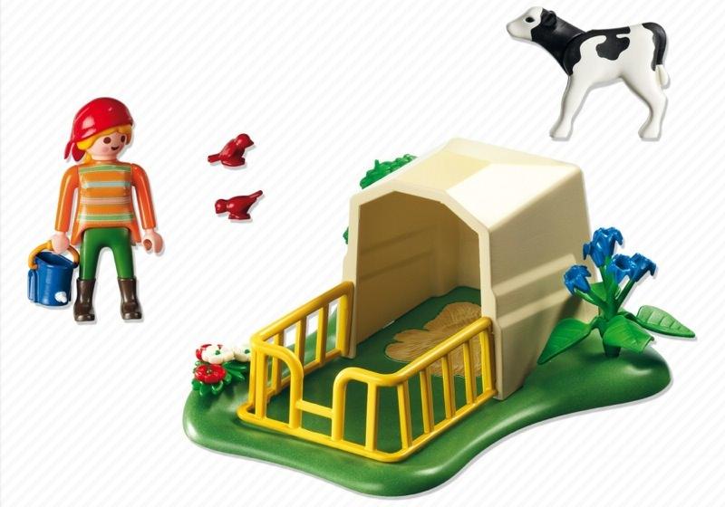 Playmobil 5124 - Calf Shelter - Back