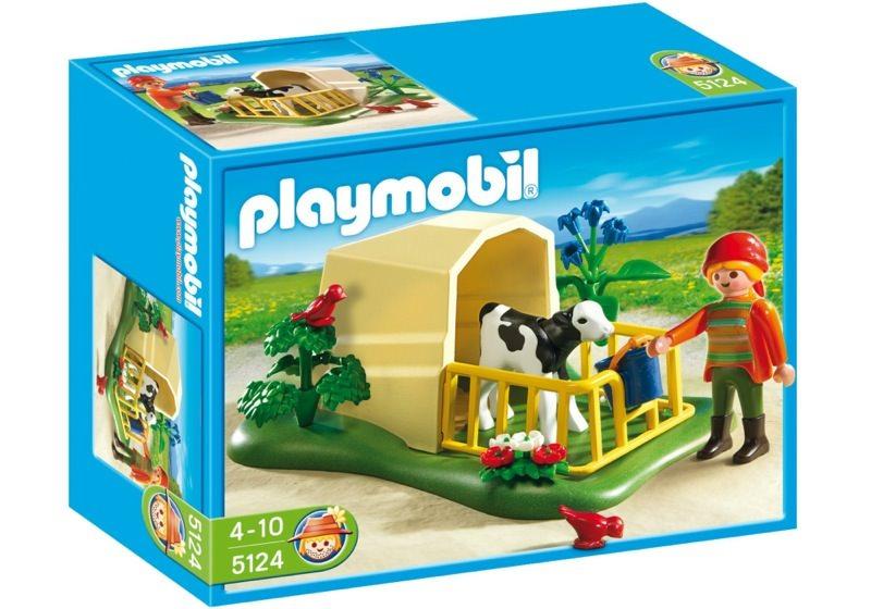Playmobil 5124 - Calf Shelter - Box