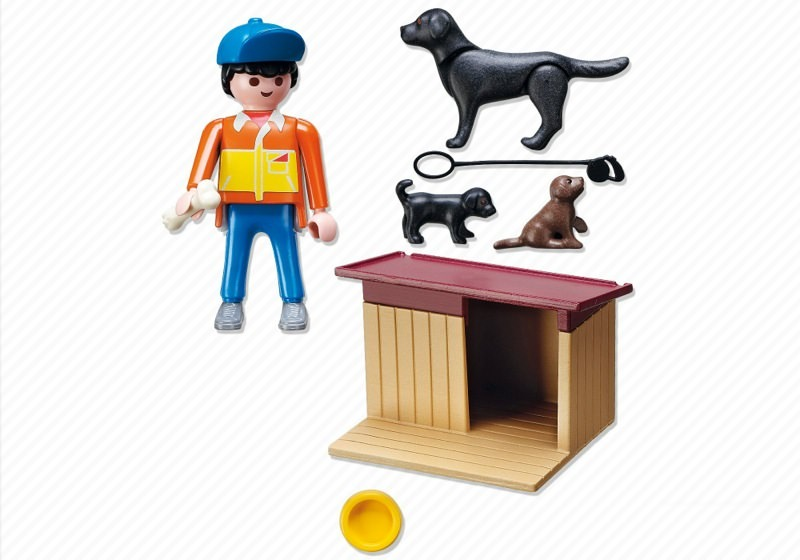 Playmobil 5125 - Guard Dog with Puppies - Back