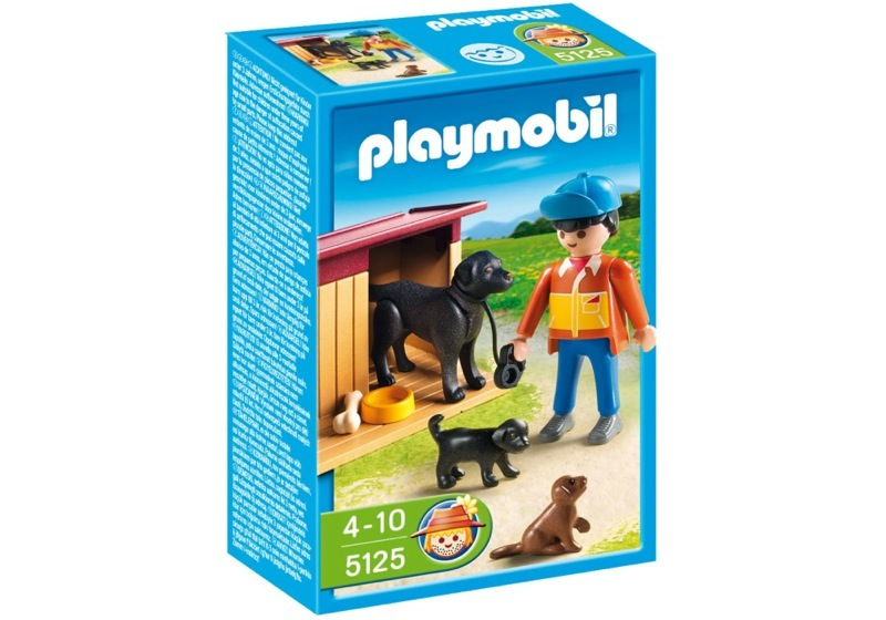 Playmobil 5125 - Guard Dog with Puppies - Box