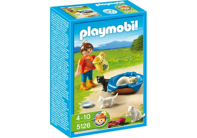 Playmobil 5126 - Girl with Cat Family - Box