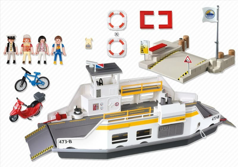 Playmobil 5127 - Car Ferry with Passengers - Back