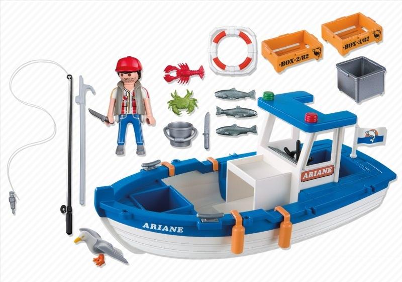 Playmobil 5131 - Small Fishing Boat - Back