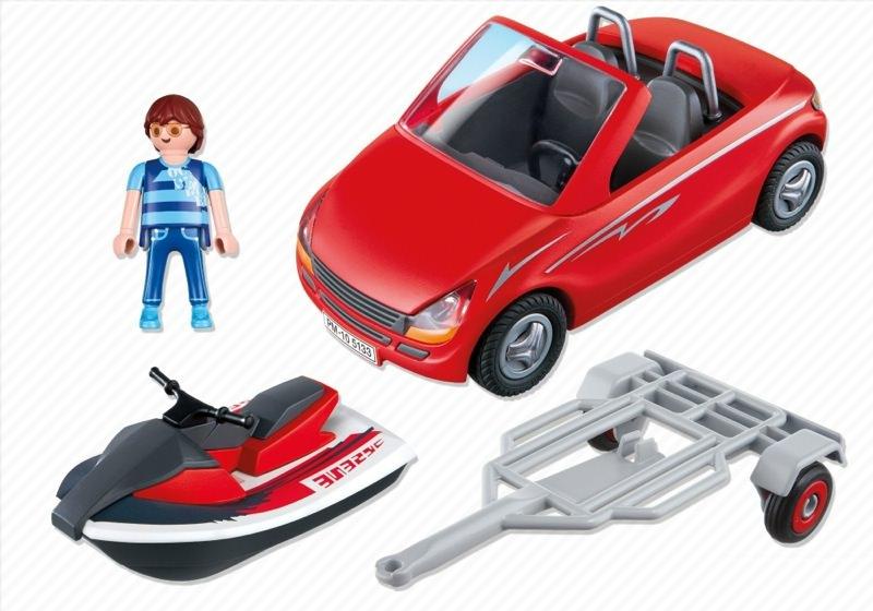 Playmobil 5133 - Roadster with Jetski - Back