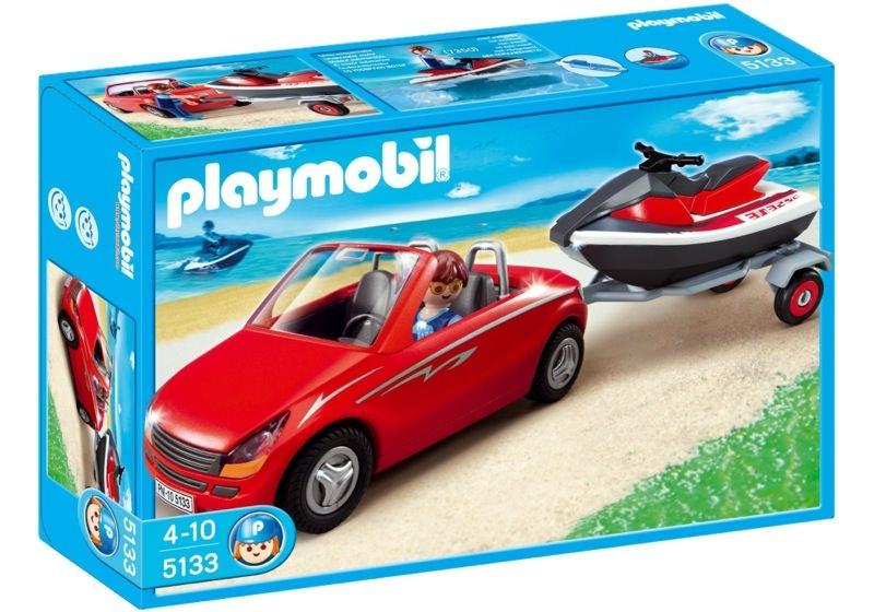 Playmobil 5133 - Roadster with Jetski - Box