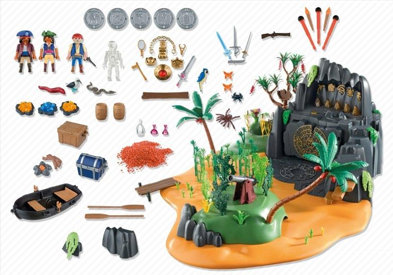 Playmobil 5134 - Pirates adventure Island - Back